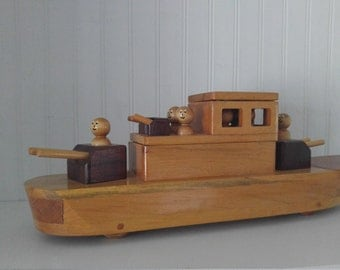 Wood toy ship- wood toy boat- handmade wood toy