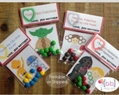 Valentine's Day Card- Star Wars- Candy Treat Bags- Printable or Shipped
