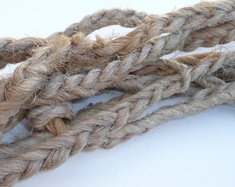Vintage Hand-made Rope, Weathered Decorative Rope, Farm Rope