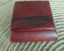 B711)  Antique Desk Stamp Holder single stamp wood box