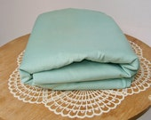 Sage Green POLISHED COTTON FABRIC Solid Chintz Decorator 4 yards Sew Craft