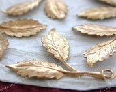 Raw Brass Leaves, 31 x 25mm Vintage Style Multi-Leaf Stampings,  DIY Wedding Brass Tiara Headpiece Wreath Supplies, Made in USA ~ STA-242