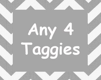 Taggie Blankets - Any 4 taggys listed in shop