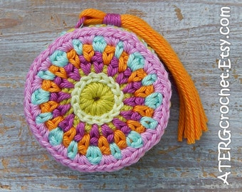 Tape measure 'orchid' by ATERGcrochet