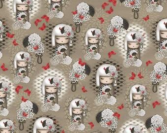 "Quilting Treasures - KIMMIDOLL YORIKO ""Dependable"" - Taupe Yoriko Vignettes"