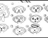4 X Custom mini felt softie monkeys