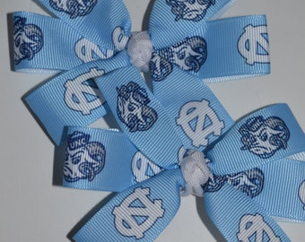 Set of Two North Carolina Tar Heels Hair Bows