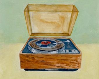 Record Player Art Print