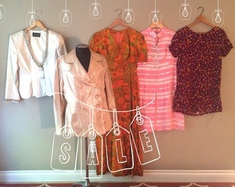 Reduced!! One Lot of Vintage Ladies Clothing on Sale