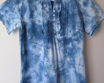 Tie Dyed Cotton Blouse Size 10