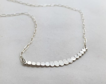 Scalloped Dots Sterling Silver Necklace