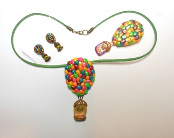 Up Balloon Necklace or Brooch or Earrings-Buy Separate or as a set