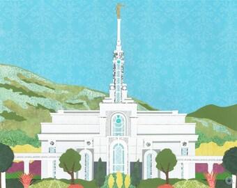 Mount Timpanogos, Utah LDS Temple PRINT ( Various sizes )