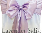 Chair Sashes Lavender Wedding Chair Sashes Chair Bows Satin Pew Bows Party Bows Event Sold Individually
