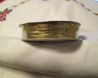 Thin Gold Cord - 25 yards elastic.