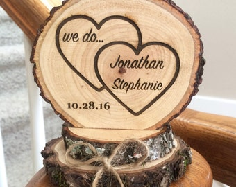 Rustic Wedding Cake Topper, Wood Cake Topper, Heart Cake Topper, Engraved Cake Topper, Custom Cake Topper, Barn Wedding, Wedding Keepsake