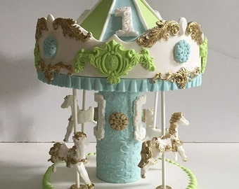 Carousel Cake Topper - for NYC pick up only