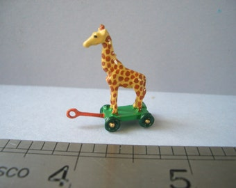Pull along Giraffe Toy for the Dolls House