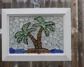 Tropical Island Sea Glass Mosaic