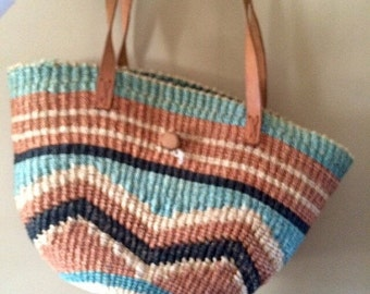 40% off Vintage Woven Straw Sisal Tote Bag