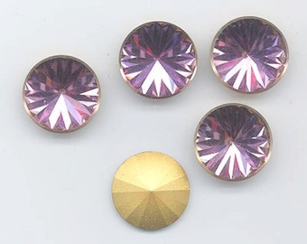Four vintage Swarovski stones - art. 2006V - 18 mm - light rose