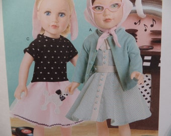 Simplicity 8072--18 Inch Doll Clothing Pattern --New Uncut