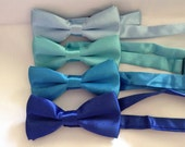 Shades of Blue Child Bow Tie,Royal Blue,Turquoise,Baby Blue,Malibu Blue,Weddings,RingBearer,Christening,Baptism,Dog Accessory