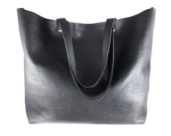 Everyday Carryall Leather Tote Bag | Shoulder Bag | Laptop Bag | Handbag | Cowhide Leather | Handmade