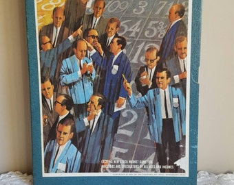 Vintage Board Game 1960's Entertainment Stock Market Game Wall Street Game
