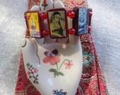 Lakshmi Wooden Devotional Bracelet. Hindu. Laxmi. Goddess. Spirituality.