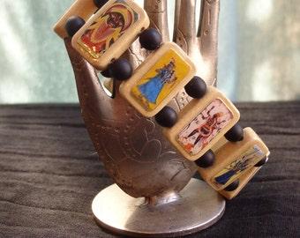 Kali Wooden Devotional Bracelet. Pagan Devotional Jewerly. Opps.  Discount. 50% Off.