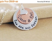 Valentines Day Gift Valentines Day Gift / Hand Stamped Necklace -Grey's Anatomy Inspired You Are My Person, Girlfriend, Gift Idea - Mixed Me