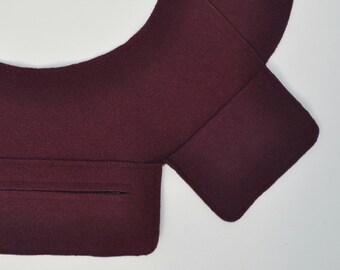 Rug Hooker's Sleeve Saver for Octagonal Frame in Maroon