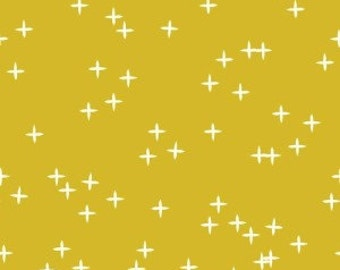 Mod Basics 3 - Wink in Marigold - Birch Organic Fabrics - MB3-01-MARIGOLD - 1/2 yd