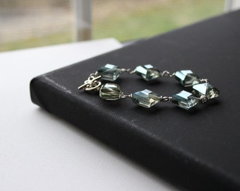 Green Chinese Square Crystal Bracelet