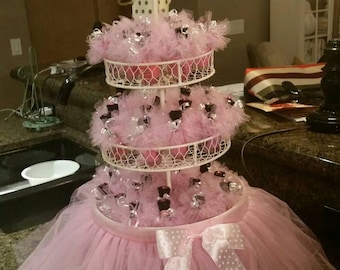 10 Tutus 12.50 & FREE domestic shipping /2TONE Tutus/Engagement/Gender reavealing party favors/Baby shower/Weddings