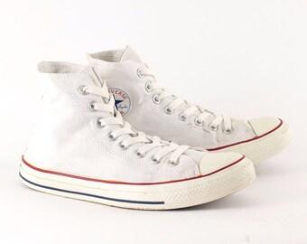 Vintage 1990's Converse All Star Hi Trainers White Men's UK 7 EU 40 US 7