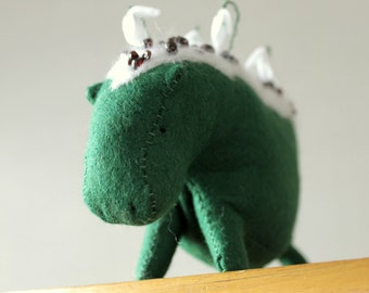 January inspired Hippo with snowdrops and garnet chips. OOAK soft sculpture