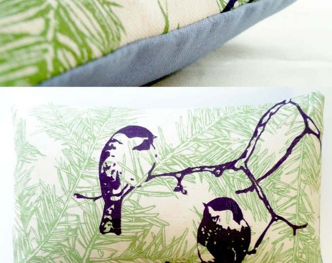 "11""x7"" Balsam fir pillow CHICKADEES / Coussin aromatique au sapin MÉSANGES"