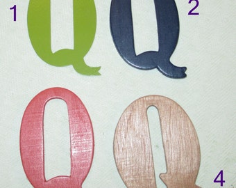 Large Wooden or Metal Magnetic Letter - Letter Z - Personalize It