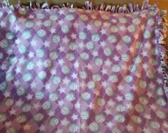 Volleyball Fleece Tie Blanket