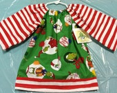 How The Grinch Stole Christmas Peasant Dress 12 Months