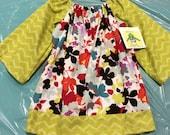 Size 2 Long Sleeve Peasant Dress