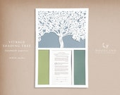 SALE The Vitrage Shading Tree papercut ketubah