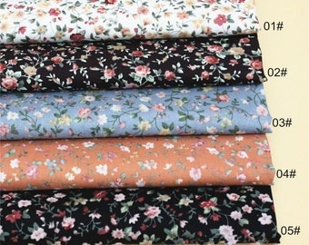 Pastoral clothing Bourrette Fabric Fabric, Poplin Fabric, Shabby Chic Flower Fabric, Clothing Fabric, Floral Cotton Fabric 1/2 Yard(QT862)
