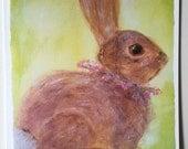 Bunny Rabbit Greeting Card/FREE SHIPPING
