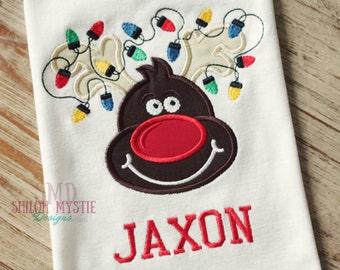Reindeer Boys shirts-Reindeer shirts-Reindeer boy Onesie