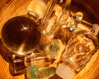 Glass bottle stoppers, and misc. other glass