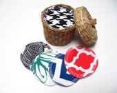 Reusable Facial Rounds, 30 Cosmetic Rounds, Makeup Remover Pads, Eco-Friendly Face Scrubbies, ADULT Friendly Prints, Stocking Stuffer