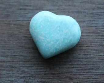 Amazonite Heart Shaped Stone  #24402